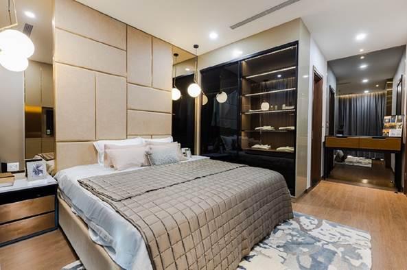 Phòng ngủ thiết kế sang trọng.