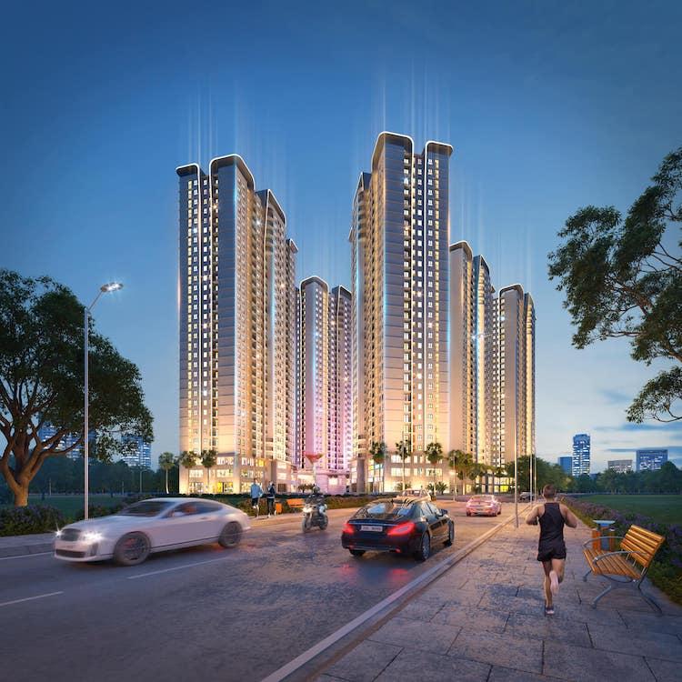 Phối cảnh dự án Tecco Elite City, dự án đang tạo được sức hút với người dân Thái Nguyên.