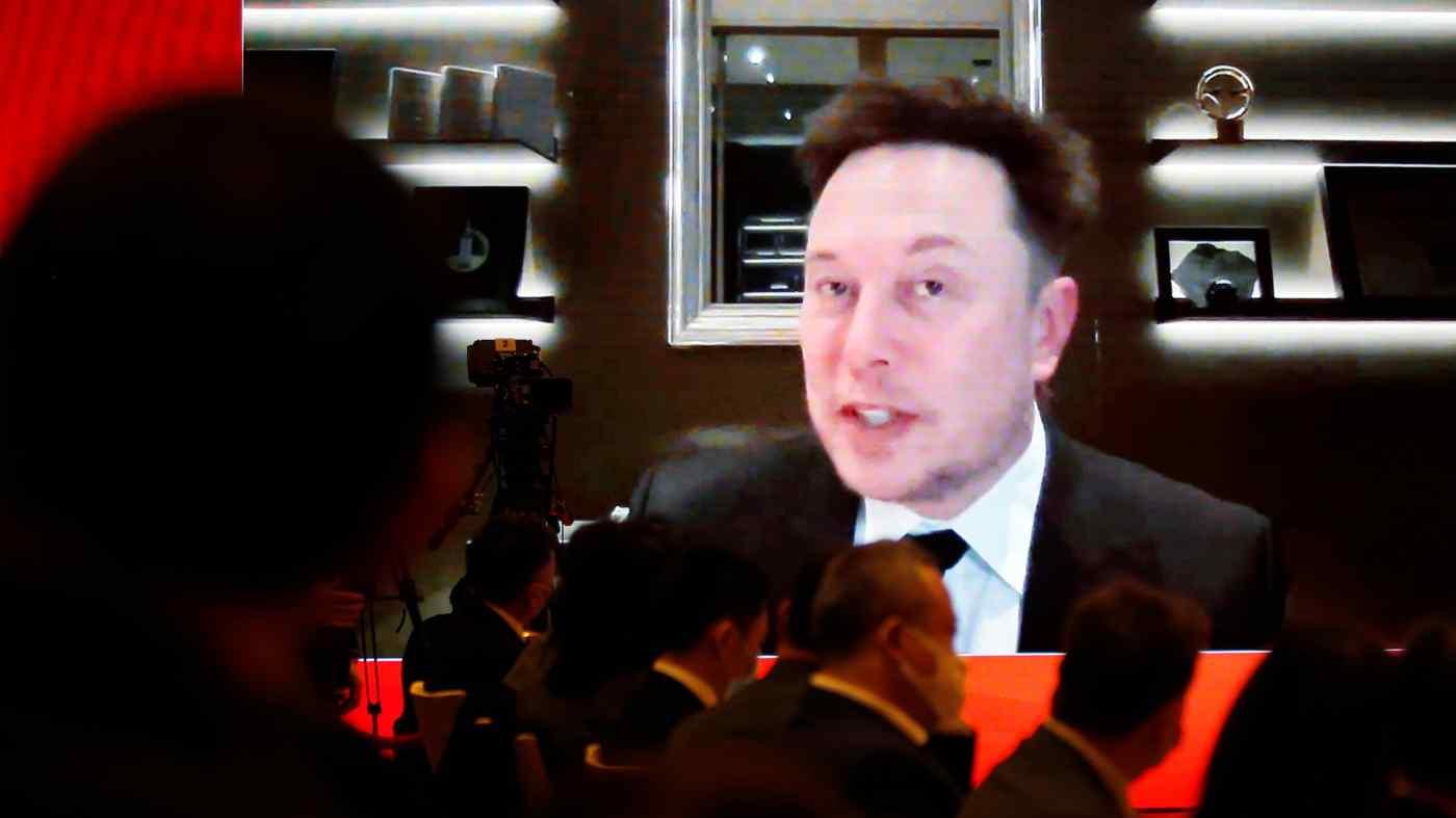 Elon Musk trong cuộc thảo luận trực tuyến hôm 20/3. Ảnh: Reuters