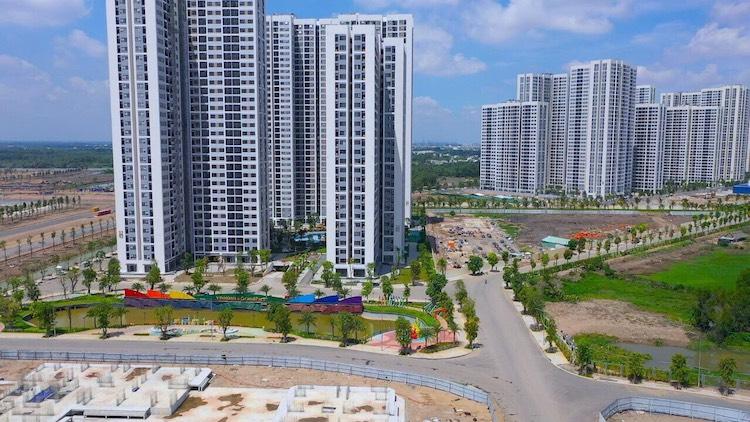 Dự án Vinhomes Grand Park, ảnh chụp tháng 10/2020. Ảnh: Vingroup.