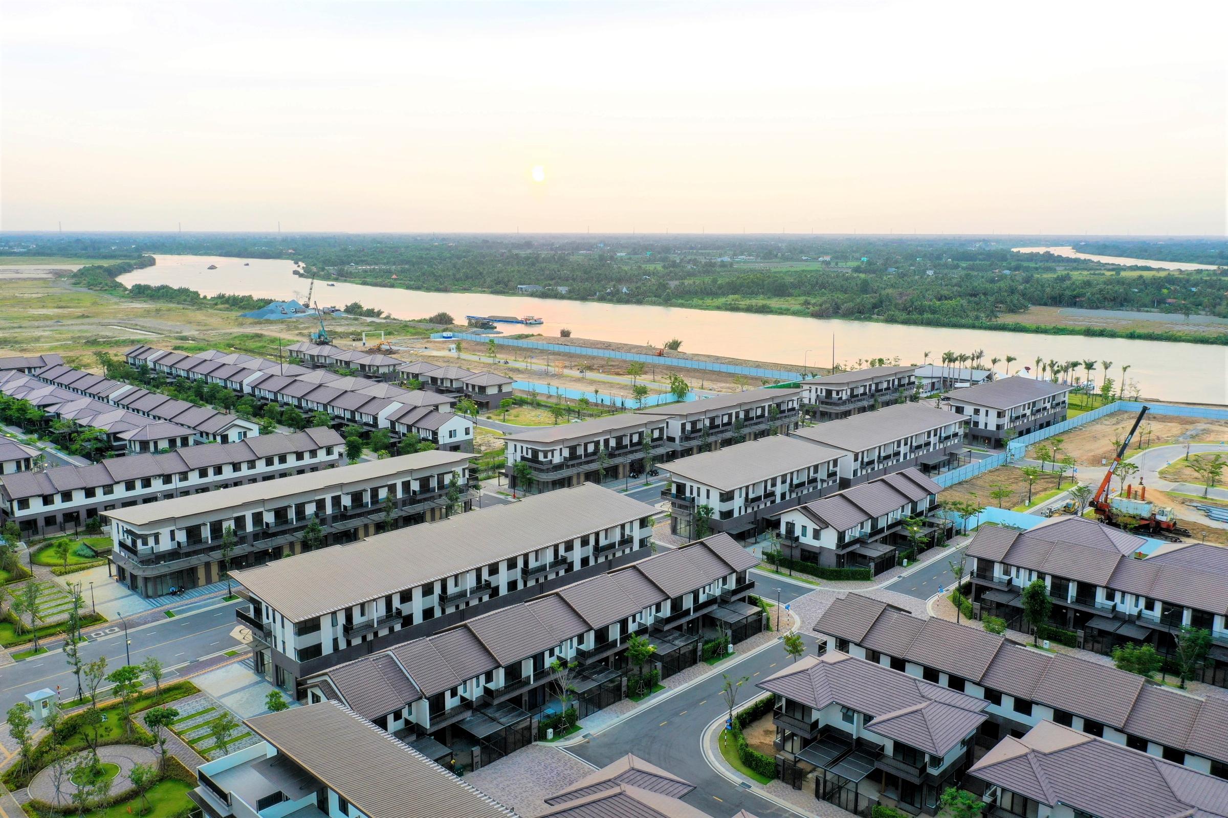 Giai đoạn một khu đô thị Waterpoint do Tập đoàn Nam Long triển khai tại Long An. Ảnh: Nam Long.