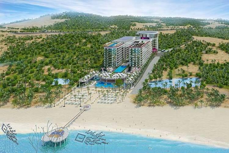 Phối cảnh tổng quan khu căn hộ nghĩ dưỡng Long Beach Resort Phú Quốc