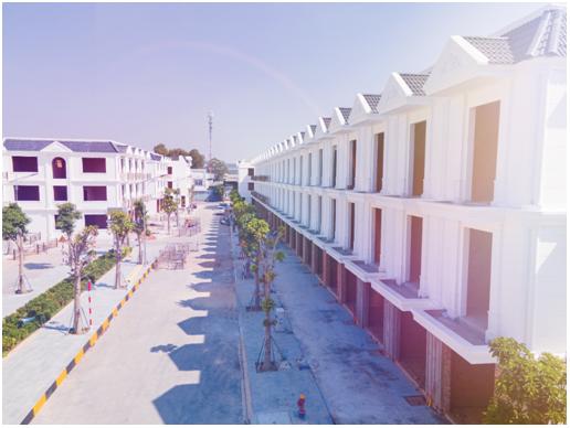 Cận cảnh những căn nhà phố sắp hoàn thiện tại dự án Cite' D'amour.  Ảnh: Asia.
