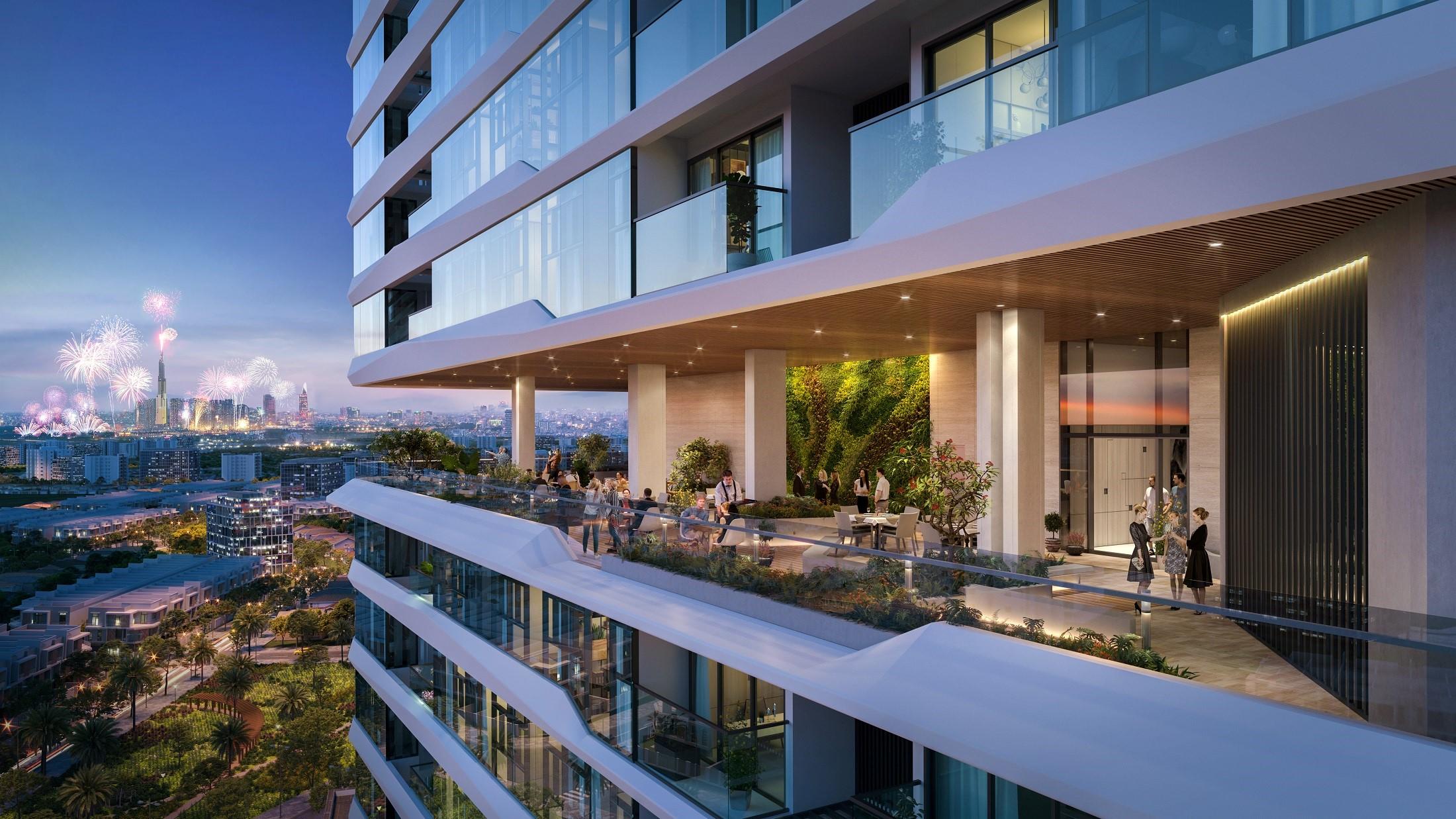 Khu phức hợp mang đến chuẩn mực và phong cách sống đẳng cấp cho cư dân thành phố mới. Ảnh phối cảnh: BCG Land.