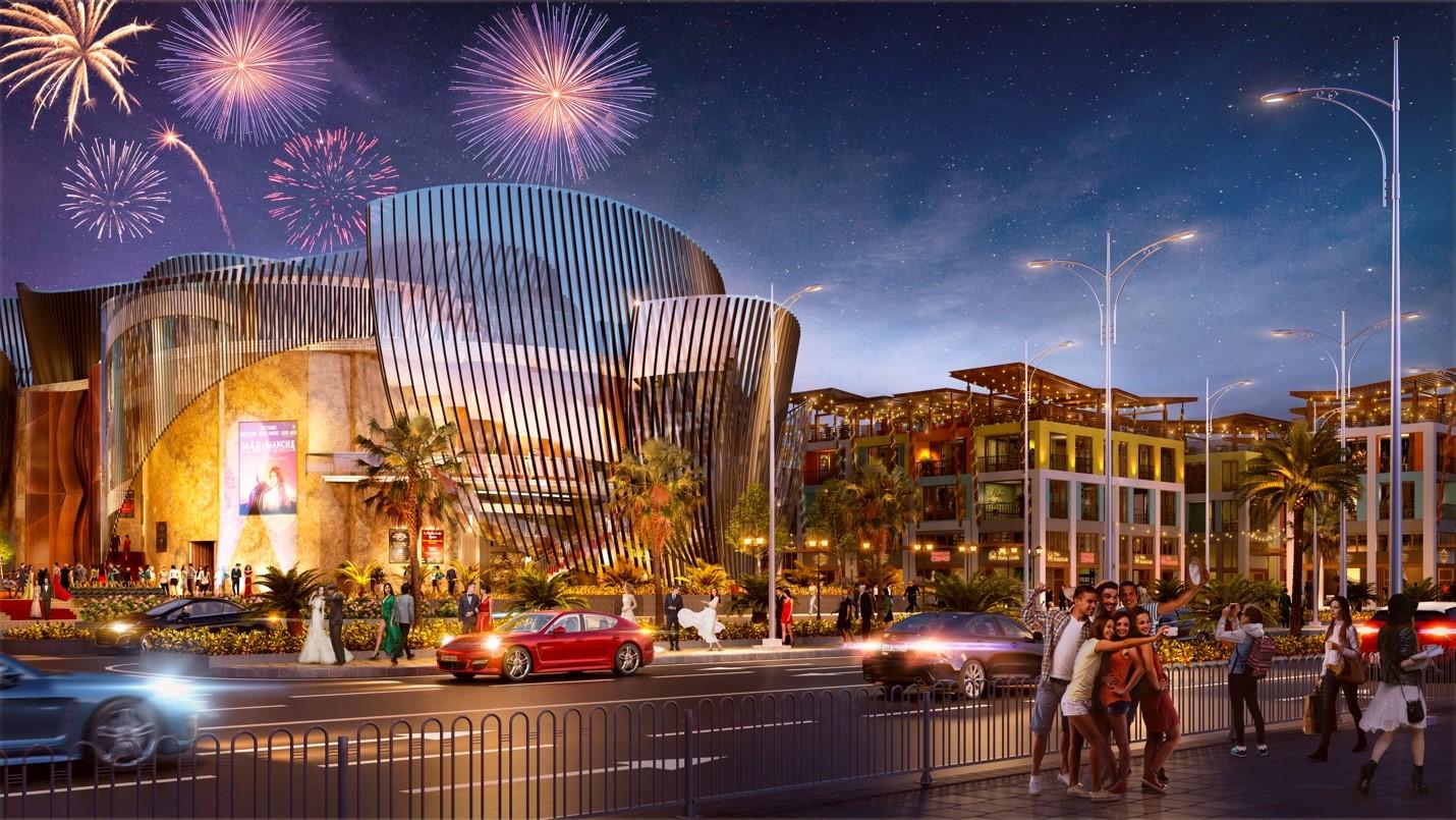 Lotus Opera là biểu tượng kiến trúc và nghệ thuật tại dự án. Ảnh: Vega City Nha Trang.