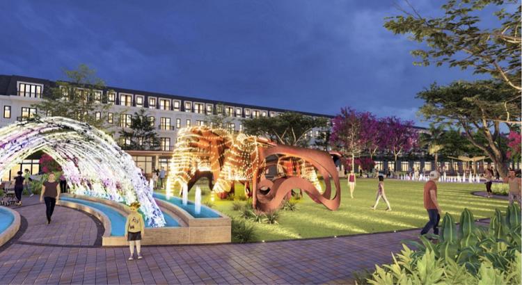 Phối cảnh Công viên Ánh sáng - một trong những điểm nhấn của EcoCity Premia.