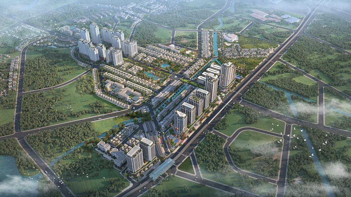 Khu đô thị bán khép kín Anlac Green Symphony được quy hoạch độc đáo tại vị trí kết nối chiến lược.