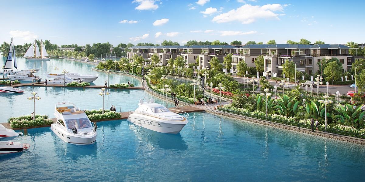 Mặt sông rộng và quỹ đất sạch là những điểm thu hút khách hàng của các dự án. Ảnh: King Bay.