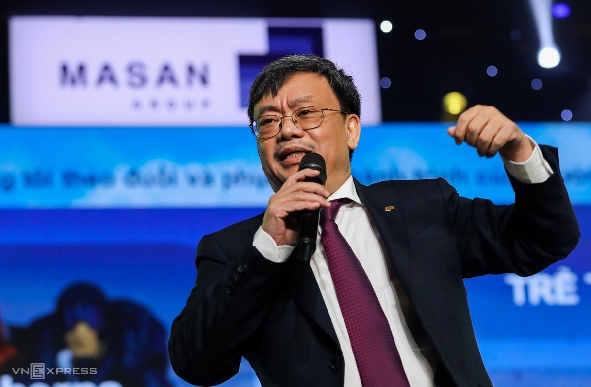 Ông Nguyễn Đăng Quang tại phiên họp thường niên 2020. Ảnh: Quỳnh Trần.
