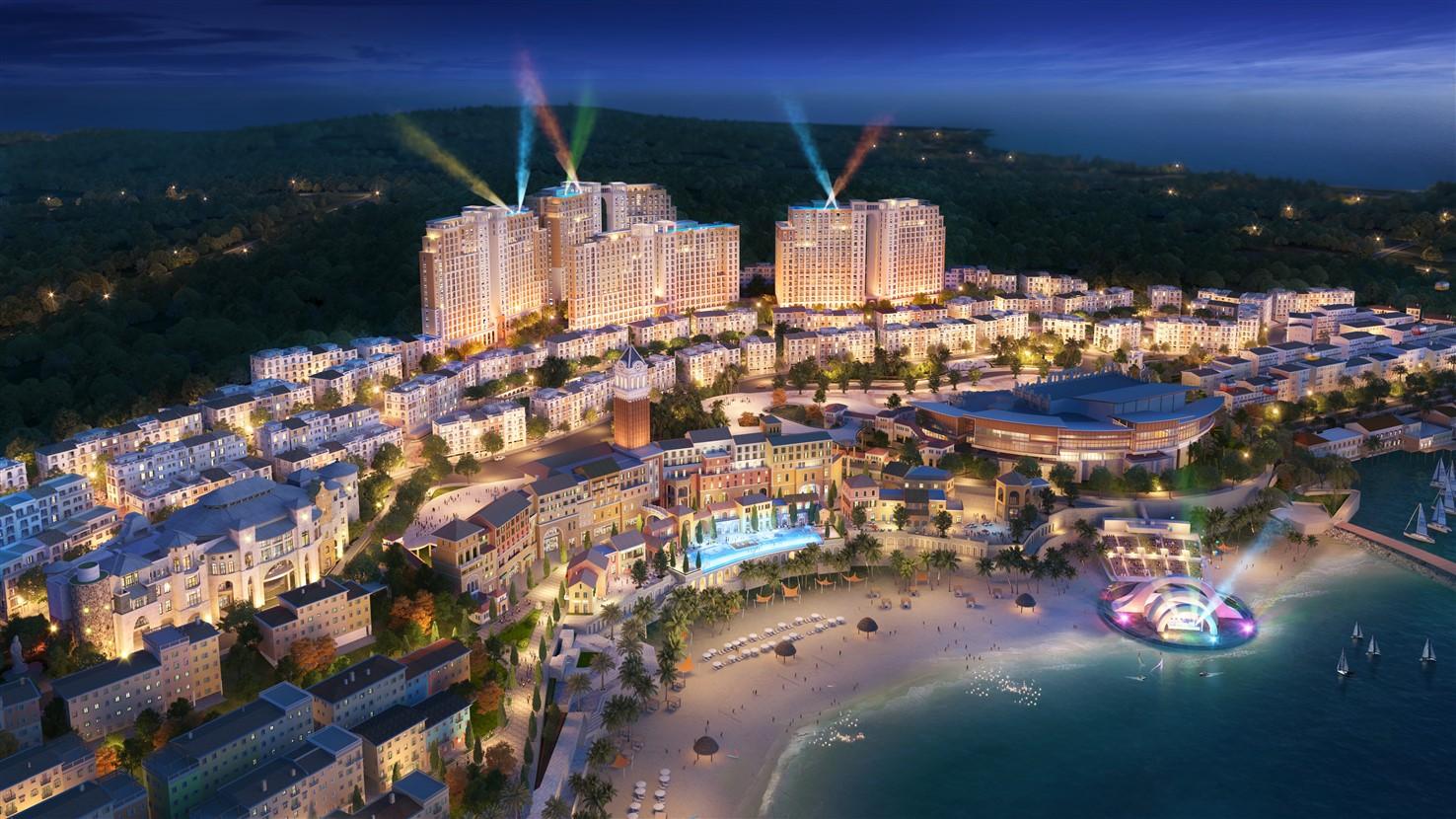 Thị trấn Địa Trung Hải đa sắc màu ở bờ Tây Nam Phú Quốc. Ảnh: Sun Group.
