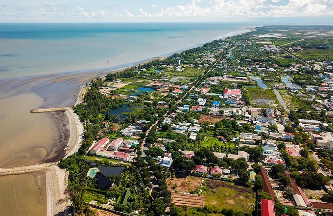 Khu vực thị trấn Cần Thạnh thuộc huyện Cần Giờ, tháng 7/2020. Ảnh:Quỳnh Trần.