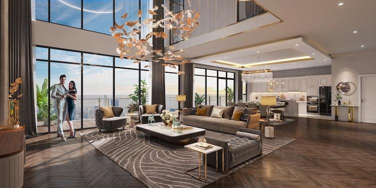 Phối cảnh căn hộ tại The Matrix One sở hữu tầm view panorama triệu đô thu trọn cảnh sắc