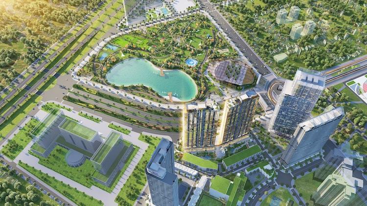 Dự án The Matrix One nằm trong quần thể tổ hợp tiện ích đa tầng hạng A phía Tây Hà Nội