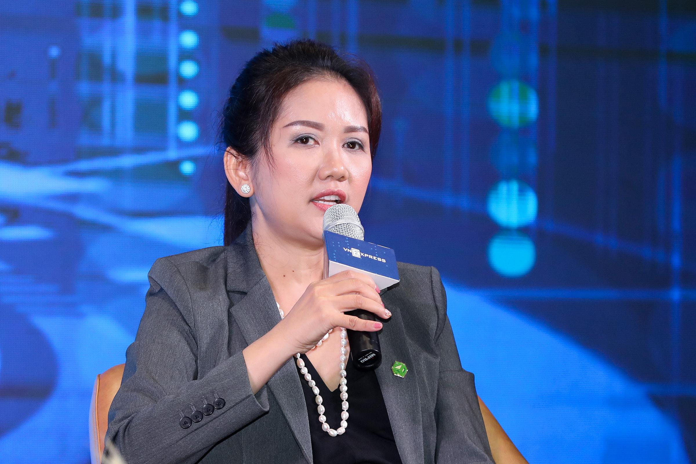Bà Nguyễn Thị Xuân Dung - Quyền Giám đốc tài chính Tập đoàn Novaland. Ảnh: Quỳnh Trần.