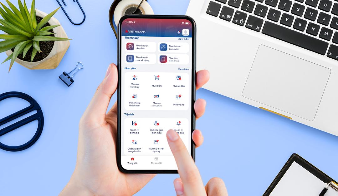 Ứng dụng ngân hàng số VietABank EZMobile đem đến những trải nghiệm mới người dùng.