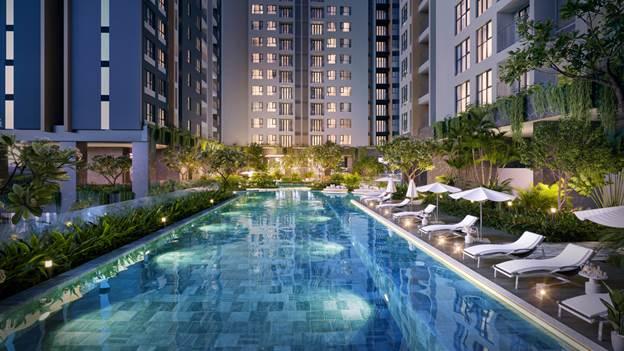 Tiện ích nội khu tại Happy One - Central được xây dựng theo phong cách Singapore, sang trọng và hiện đại.