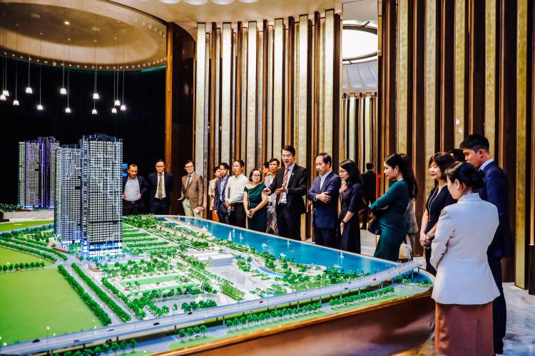 Dự án ứng dụng công nghệ cao trong thiết kế sa bàn và khu vực giới thiệu, trải nghiệm nhà mẫu. Ảnh: Masterise Homes.