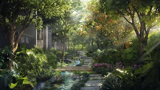 Ecopark đưa suối nhiệt đới vào tòa tháp căn hộ cao cấp