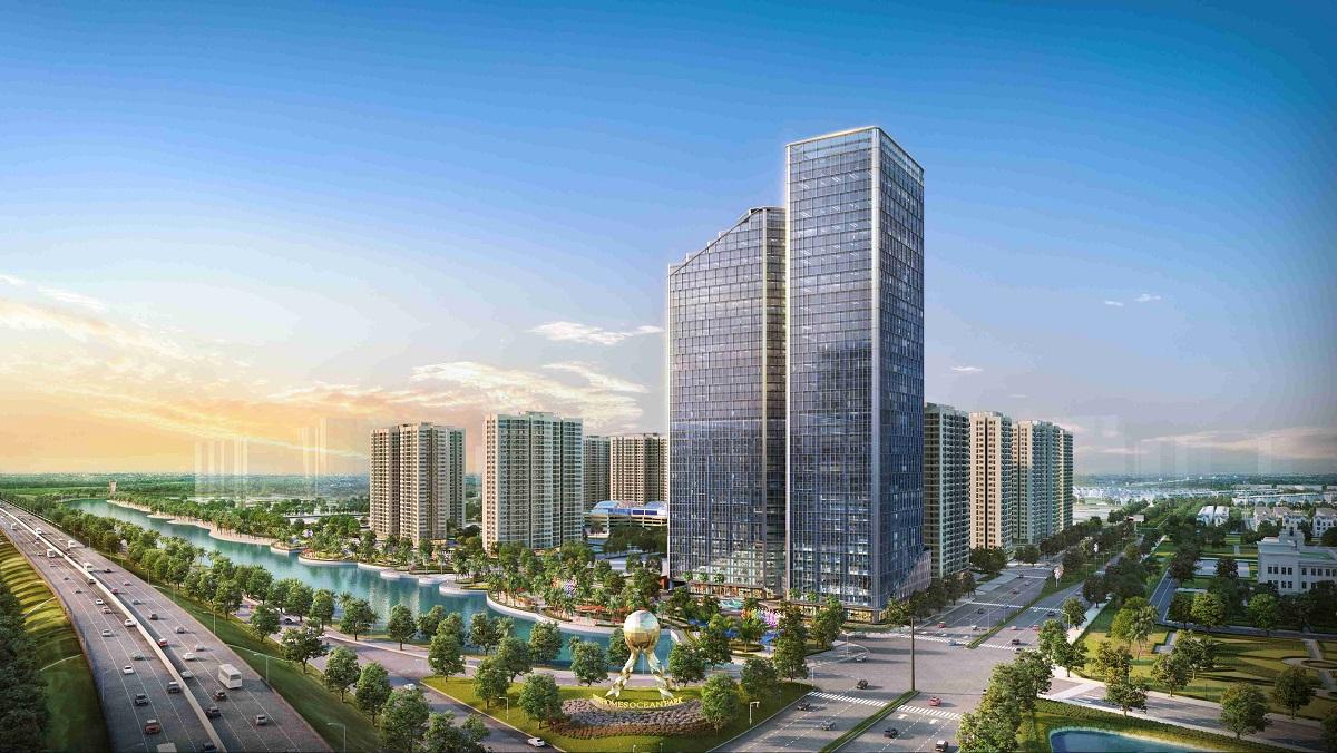 Techno Park nằm tại khu vực kết nối sân bay với trung tâm Hà Nội, các khu công nghiệp lân cận và hệ thống tiện ích tại chỗ đã đi vào hoạt động. Ảnh: Vingroup.