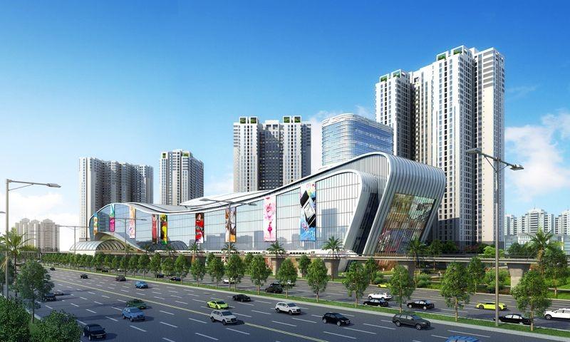 Tuyến Metro số 1 đi qua nhiều dự án trên trục Xa lộ Hà Nội. Ảnh phối cảnh dự án Masteri Thảo Điền.