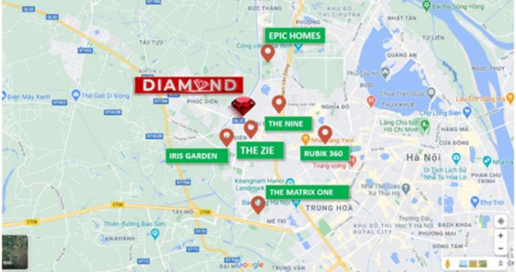 Tòa Diamond - Goldmark City là một trong số ít dự án tại khu vực Mỹ Đình sở hữu căn hộ 4 phòng ngủ.