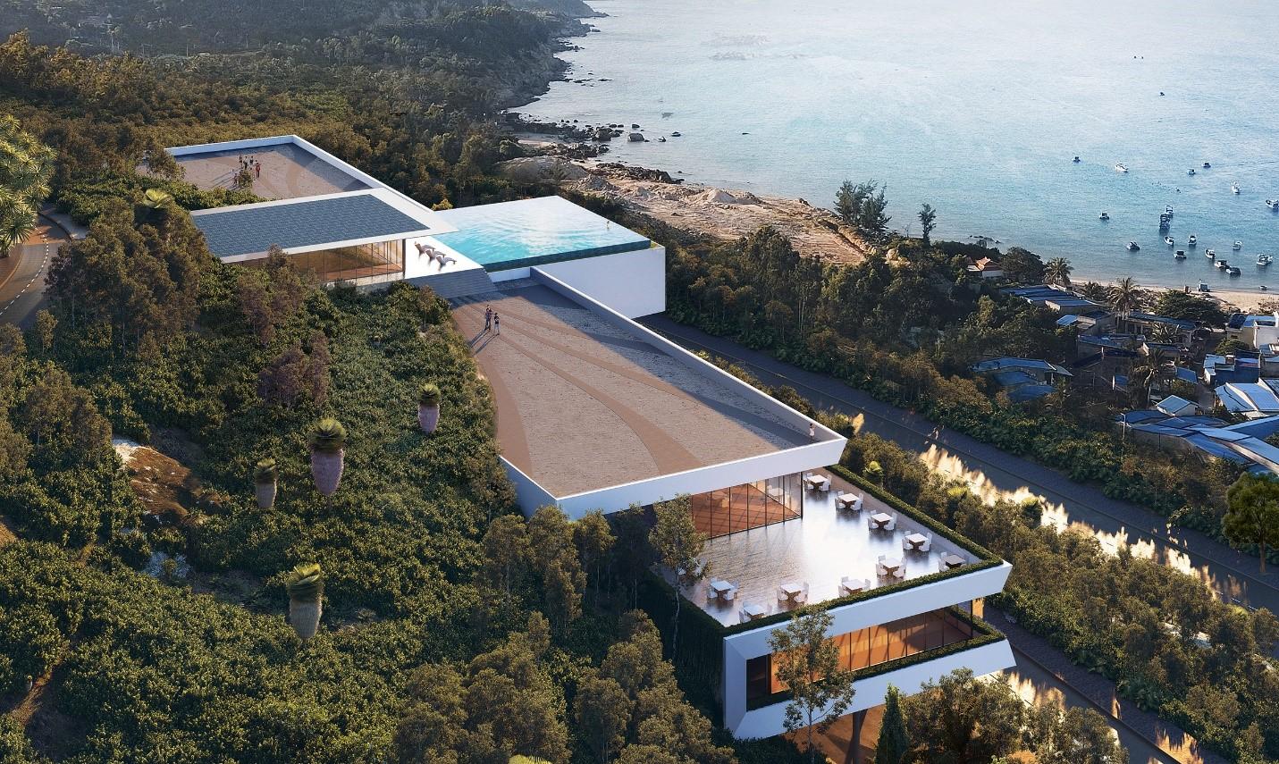 Bất động sản Quy Nhơn sở hữu nhiều tiềm năng phát triển mạnh, nhất là trên phân khúc cao cấp. Ảnh phối cảnh dự án Casa Marina Premium.
