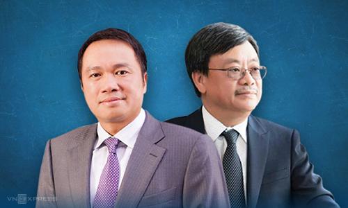 Ông Nguyễn Đăng Quang (bên phải) và ông Hồ Hùng Anh được xem là bộ đôi gắn bó lâu năm. Ảnh: Tạ Lư.