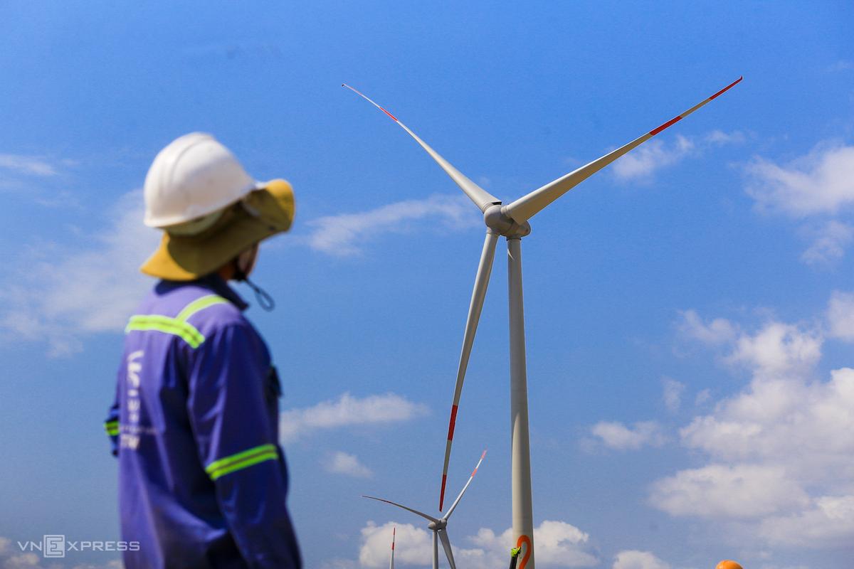 Dự án điện gió Trung Nam (huyện Thuận Bắc, tỉnh Ninh Thuận). Ảnh: Quỳnh Trần
