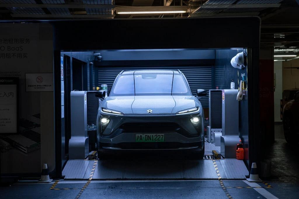 Một chiếc xe điện Nio tại Trung Quốc. Ảnh: NYT.