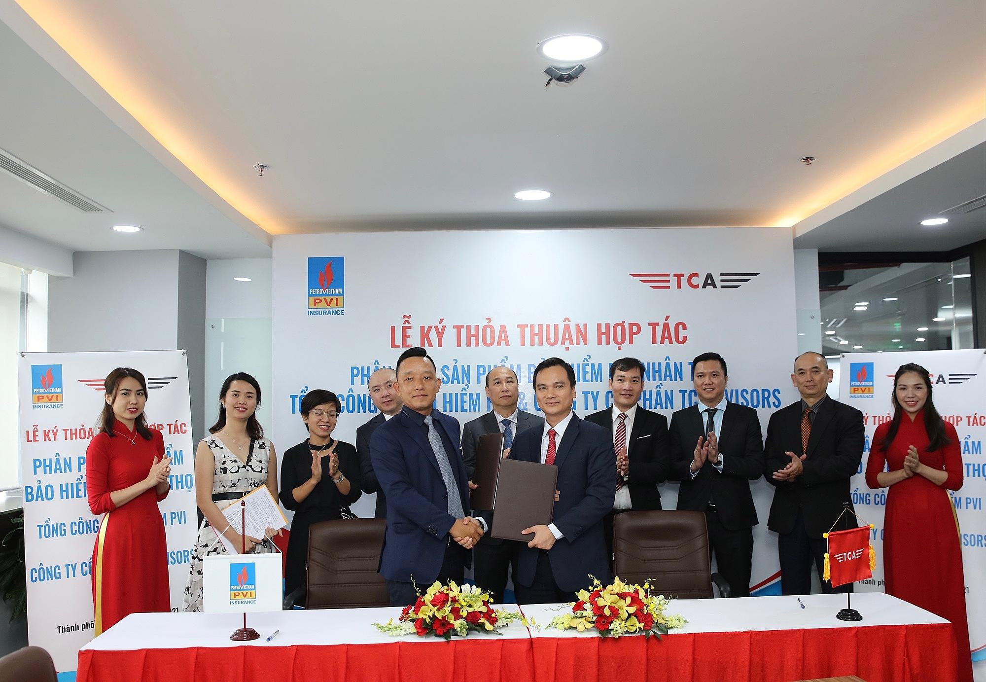 Lễ ký Thỏa thuận hợp tác giữa Bảo hiểm PVI và TC Advisors.