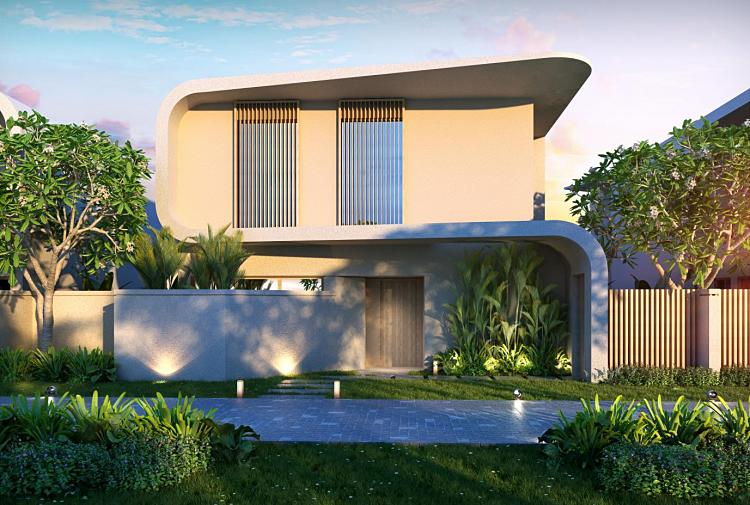 Lối kiến trúc kết hợp hài hòa giữa tính riêng tư và không gian rộng mở tại dự án. Ảnh: Ho Tram  Project.