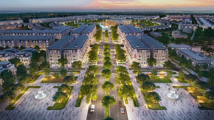 Khu nhà phố thương mại dự án Hinode Royal Park.