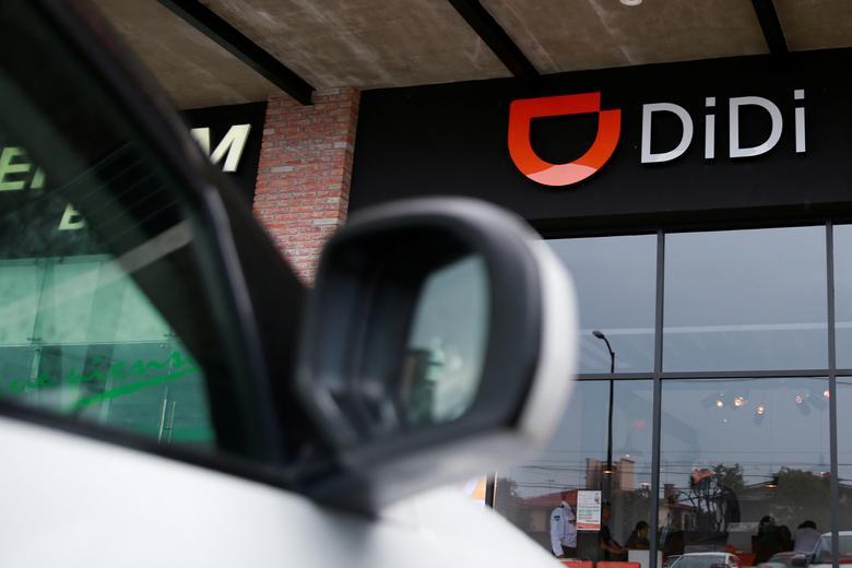 Logo của Didi Chuxing tại văn phòng ở Mexico. Ảnh: Reuters