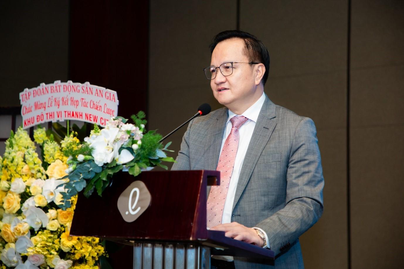 Ông Nguyễn Vĩnh Trân, Đại diện Sakura Group phát biểu tại sự kiện. Ảnh: Công ty CP Liên Minh.