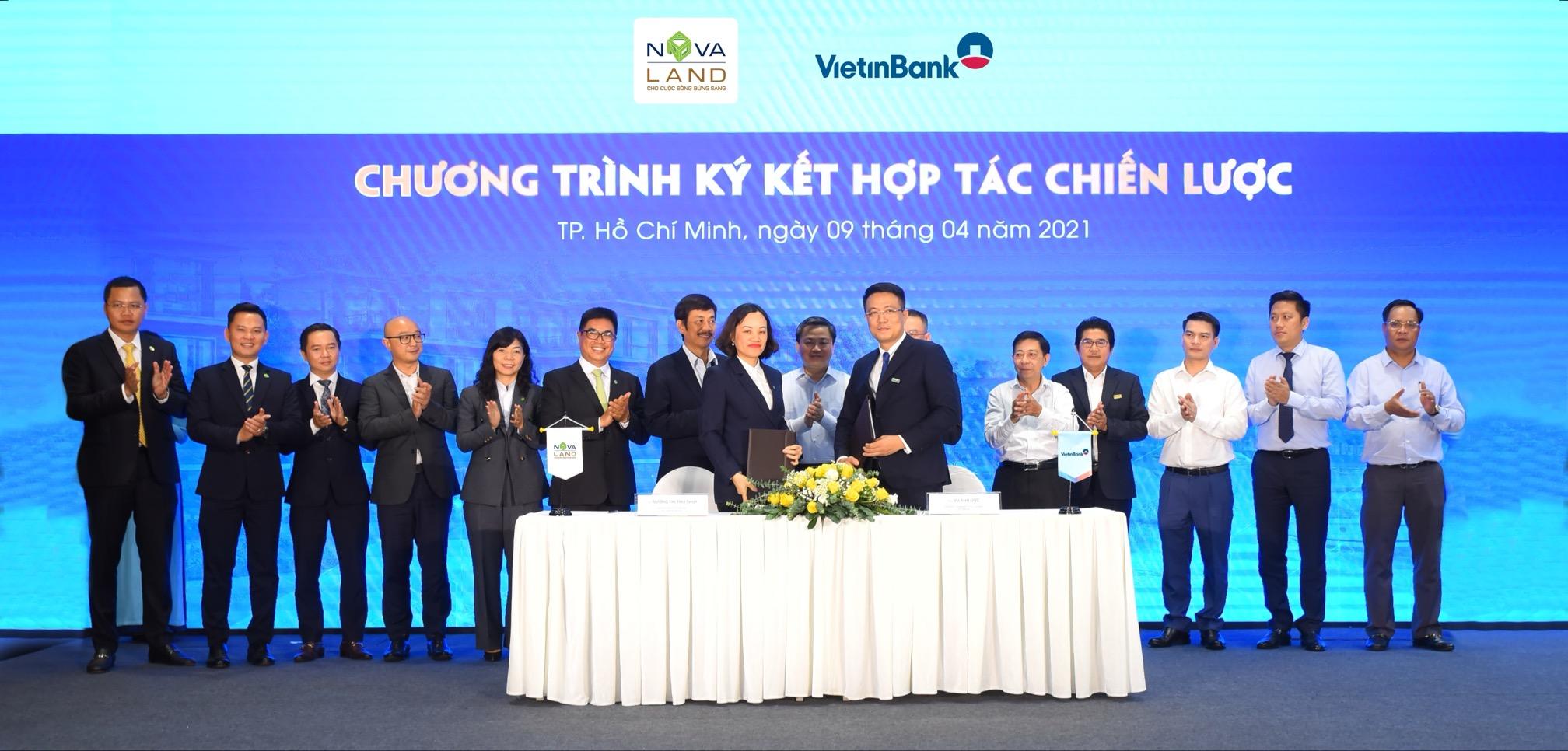 Sự kiện ký kết hợp tác chiến lượcđược xem là một động lực tiếp đà phát triển mạnh mẽ cho cả Novaland, Vietinbank và toàn thị trường bất động sản. Ảnh: Novaland.