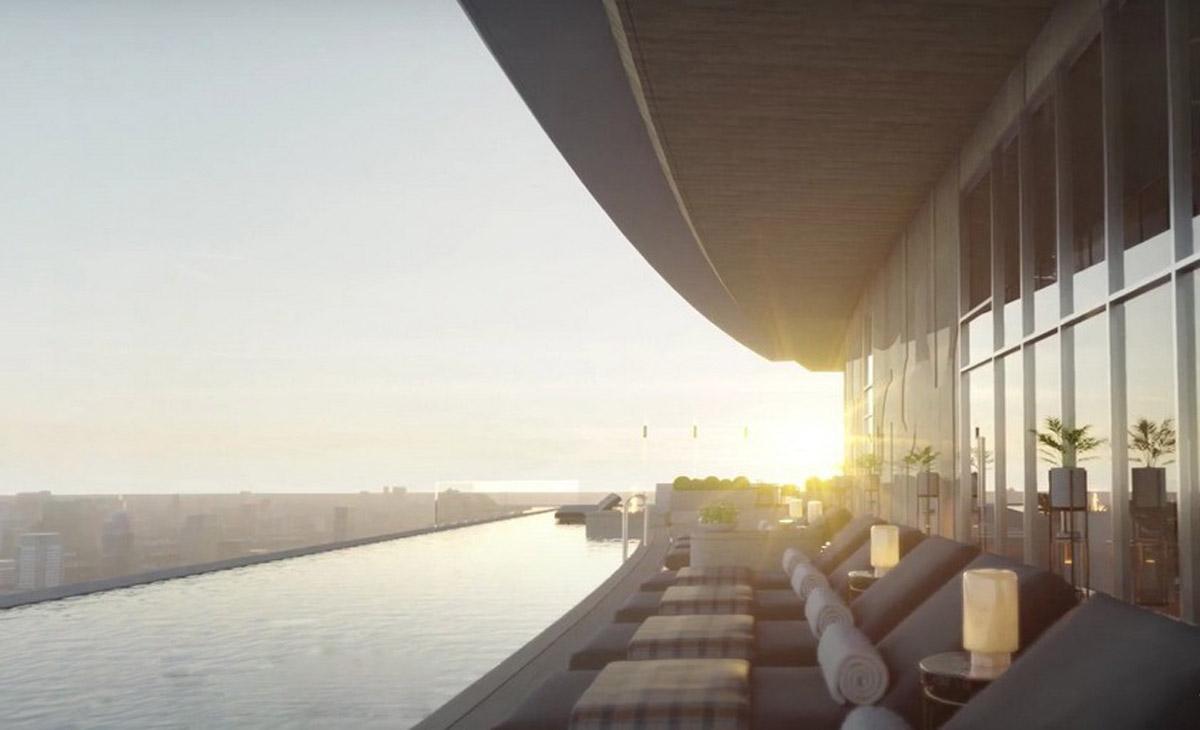 Phối cảnh tiện ích của dự án hạng sang vừa công bố giá bán hơn 400 triệu đồng một m2.