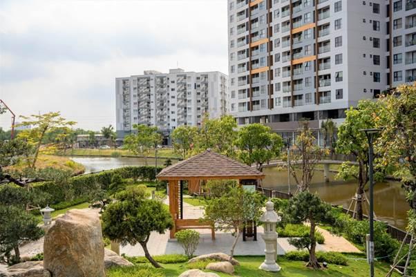 Không gian xanh đã hiện hữu tại Miziki Park.
