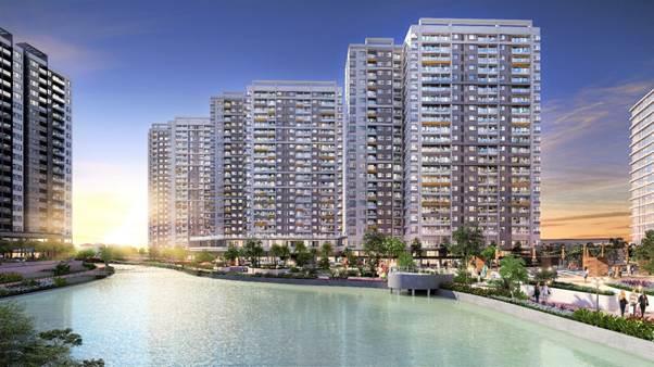 Phối cảnh ba block căn hộ dòng Flora MP6 - MP7 - MP8 tại khu đô thị Mizuki Park mà Tập đoàn Nam Long chuẩn bị chào bán.
