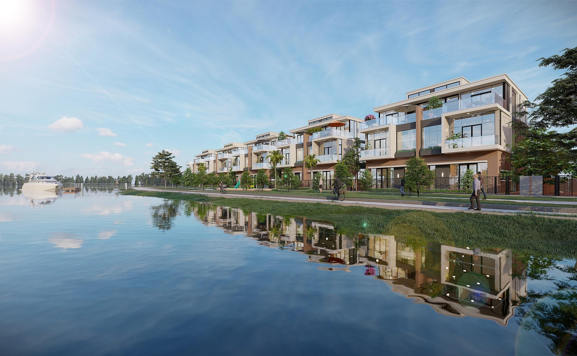 Trong giai đoạn đầu hợp tác, VietinBank cung cấp dịch vụ cho vay mua nhà tại dự án khu đô thị sinh thái thông minh Aqua City. Ảnh phối cảnh: Novaland.