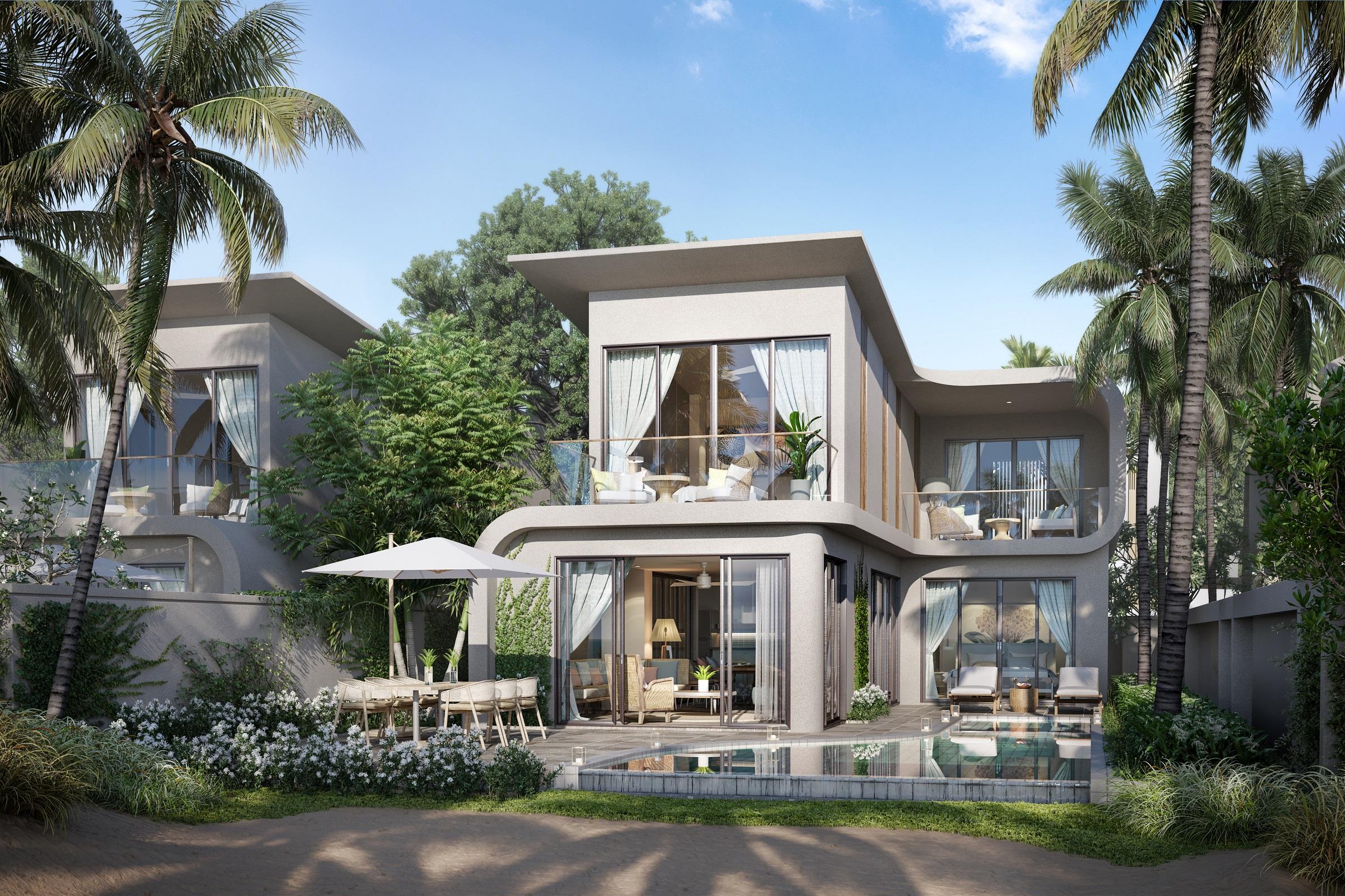 Những ngôi biệt thự Ixora Ho Tram by Fusion với bờ biển riêng tư, không khí trong lành và bàn giao hoàn thiện đầy đủ nội thất theo phong cách rất riêng của Fusion Hotels & Resorts. Ảnh phối cảnh: HTP.
