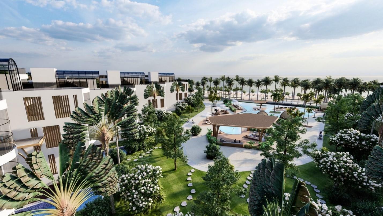 Charm Resort Long Hải được chú trọng về thiết kế kiến trúc, cảnh quan và tiện ích. Ảnh phối cảnh: Charm Group.