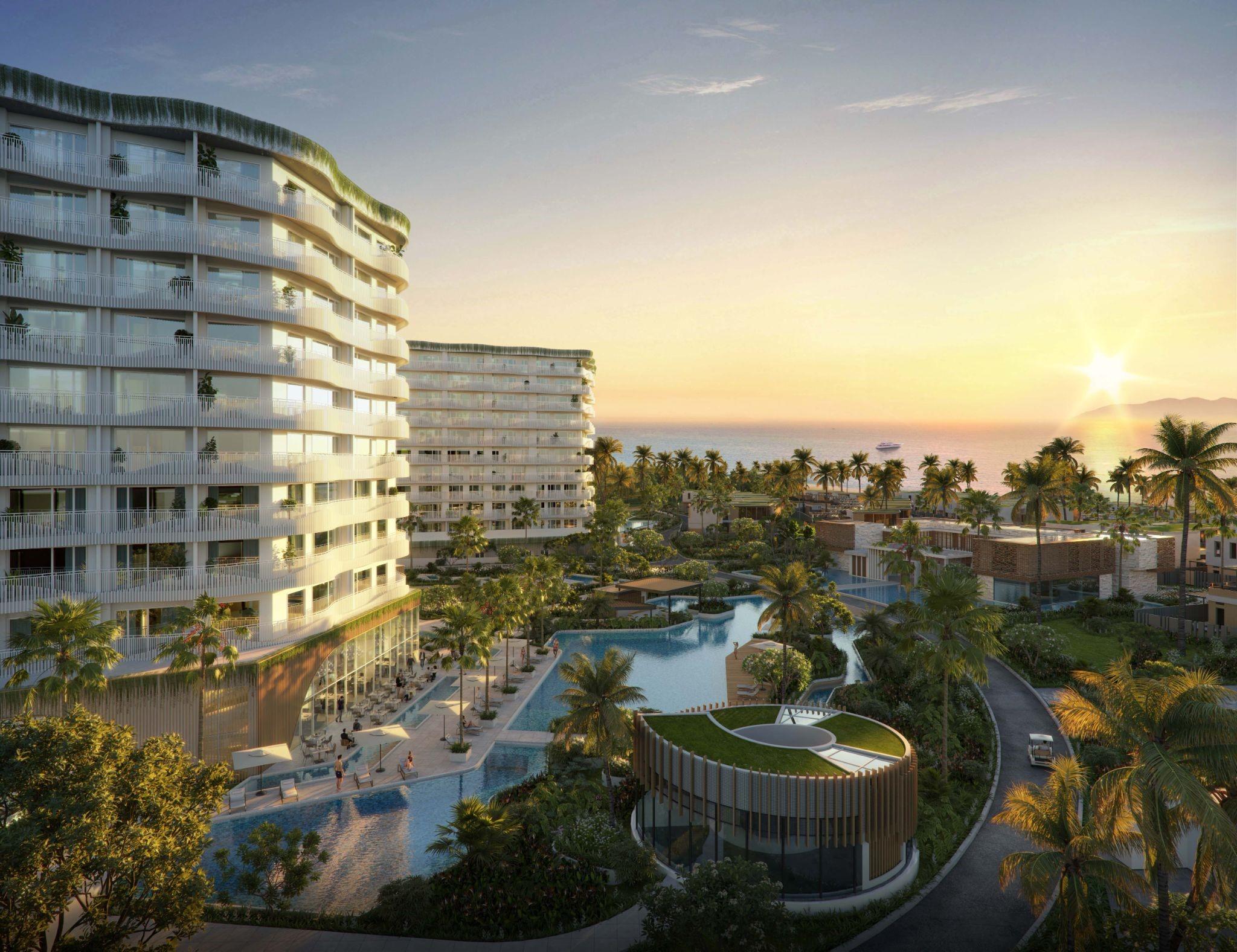 Phối cảnh tầm nhìn từ Shantira Beach Resort & Spa ra biển. Ảnh: Royal Capital Group.