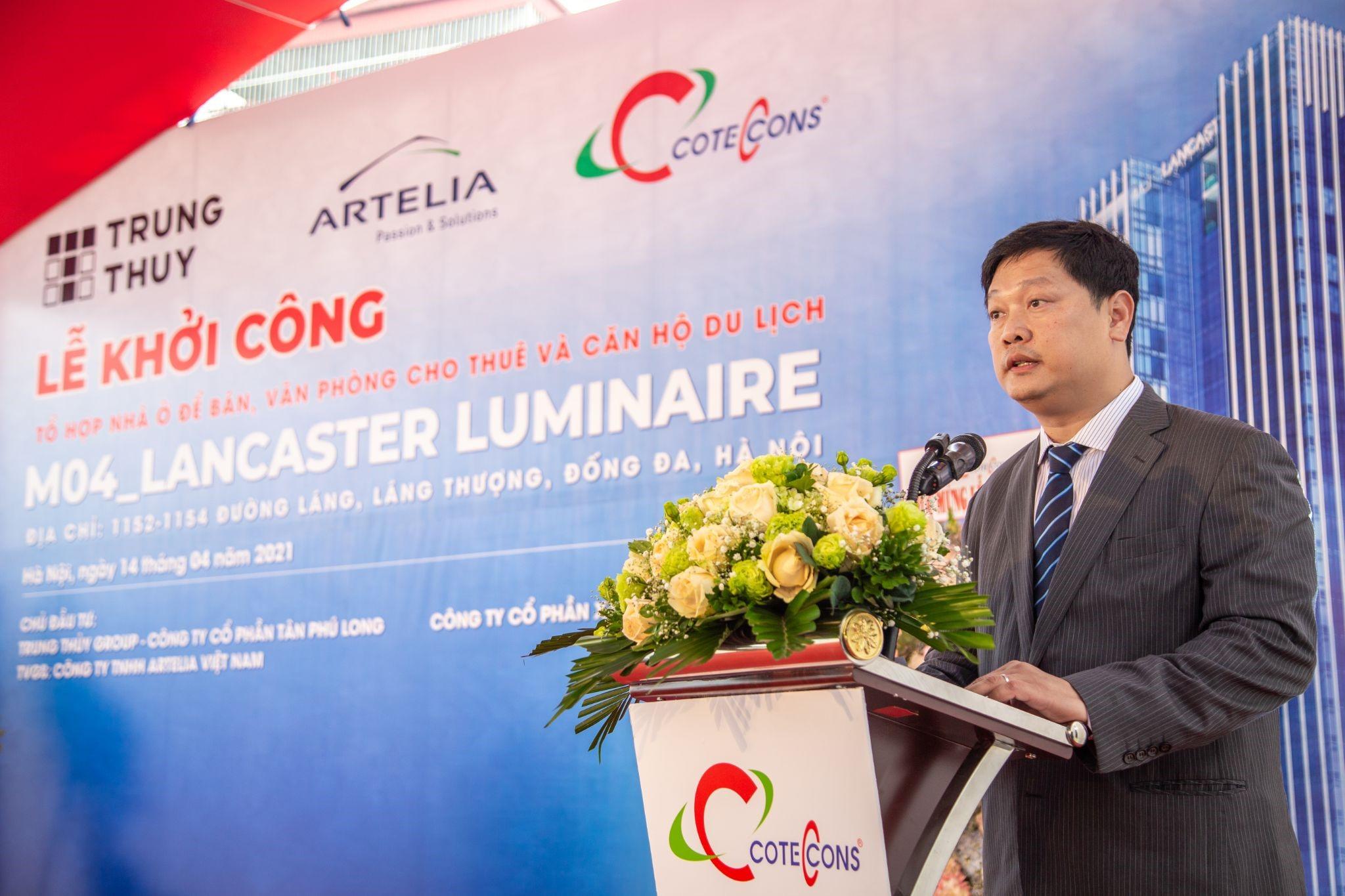 Ông Phan Hữu Duy Quốc - Phó tổng giám đốc Công ty CP Xây dựng Coteccons. Ảnh: Tập đoàn Trung Thủy.
