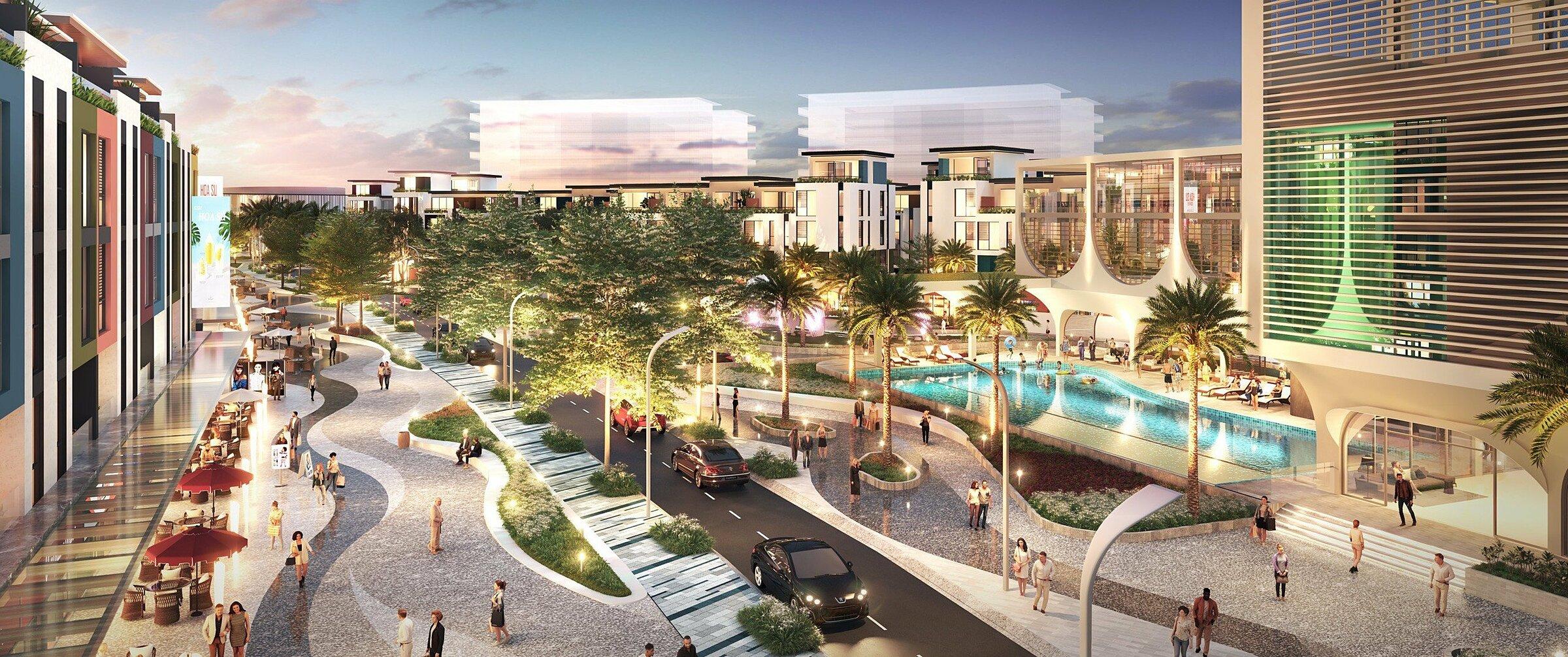 Meyhomes Capital Phú Quốc sẽ là đô thị sống sôi động, phồn vinh của thành phố đảo. Ảnh phối cảnh: Tập đoàn Tân Á Đại Thành.