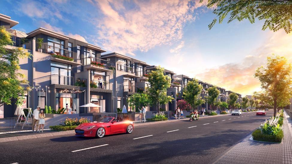 Chủ đầu tư giới thiệu dòng sản phẩm nhà phố xây sẵn ra thị trường trong tháng 4. Ảnh phối cảnh: Tập đoàn Đất Xanh.