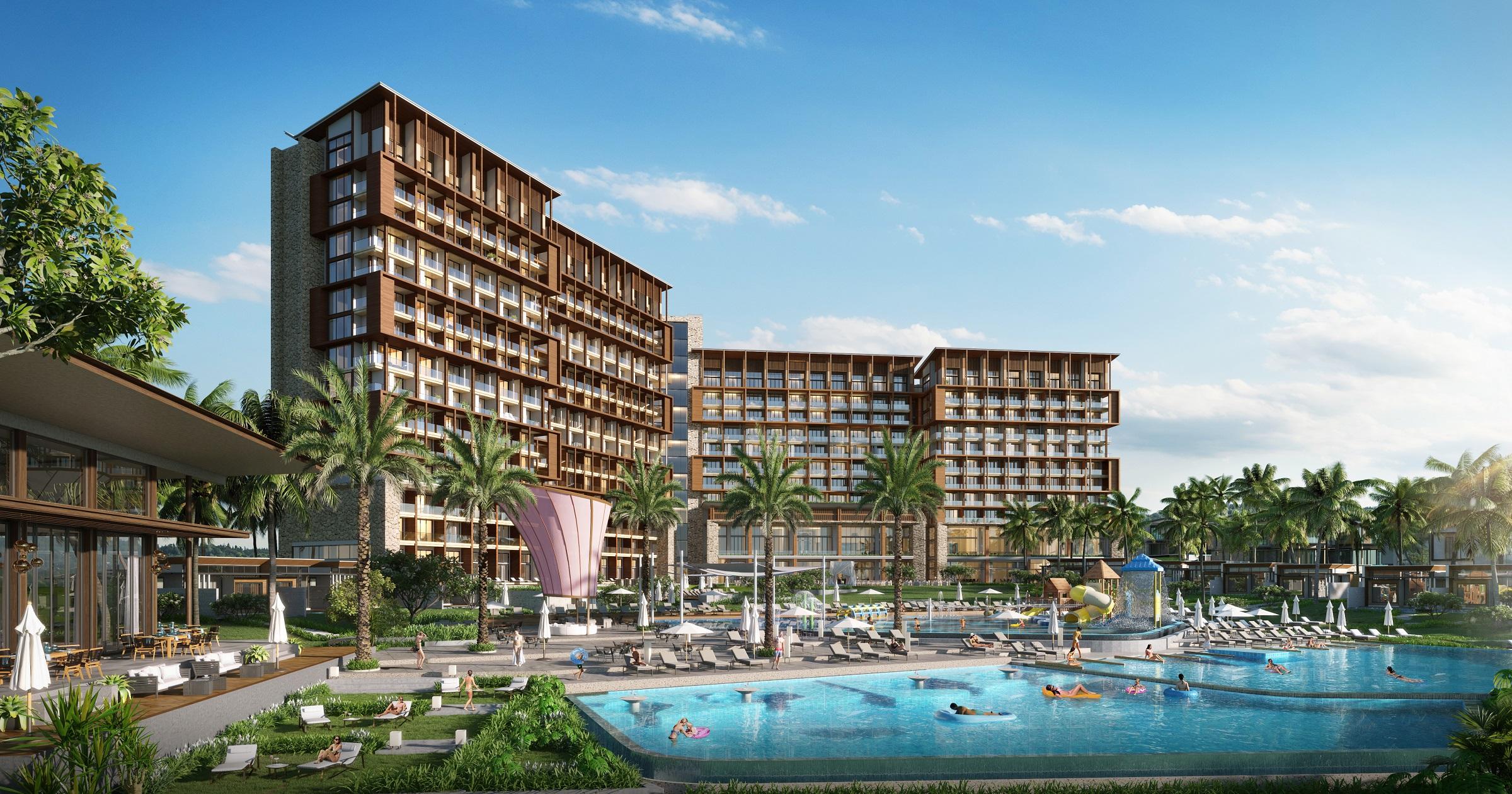 Phối cảnh khách sạn thuộc dự án Le Méridien Đà Nẵng Resort & Spa. Ảnh: IFF Holdings.
