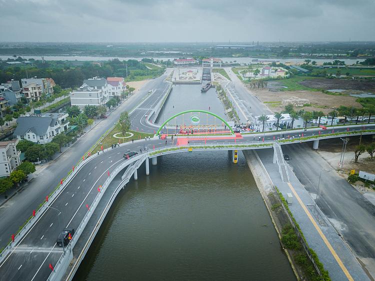 Ecopark chi 350 tỷ đồng xây cầu dẫn vào dự án ở Hải Dương