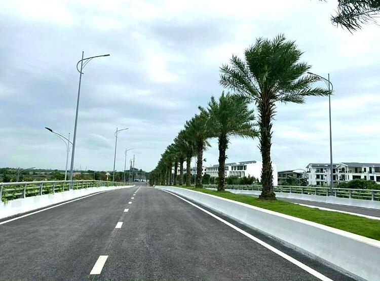 Cầu Hải Long có chiều dài 200 mét, kết nối khu đô thị Eco