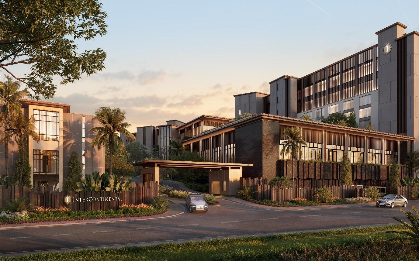 Ảnh phối cảnh dự án InterContinental Residences Halong Bay. Ảnh: BIM Land.