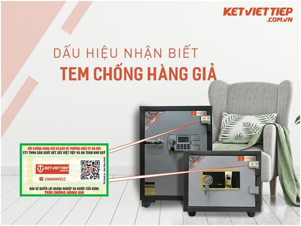 Tem chống hàng giả giúp nhận biết két sắt Việt Tiệp chính hãng